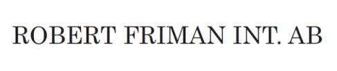 "<a href=""http://www.robertfriman.se"" target=""_blank"" >Robert Friman International AB</a>"