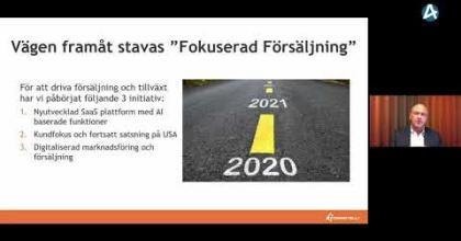 Embedded thumbnail for Comintelli - Stora Aktiedagen Stockholm digitalt 30 november 2020
