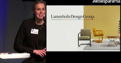 Embedded thumbnail for Lammhults Design Group – Stora Aktiedagen Göteborg 2018