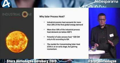 Embedded thumbnail for Industrial Solar – Stora Aktiedagen Göteborg 4 november 2019