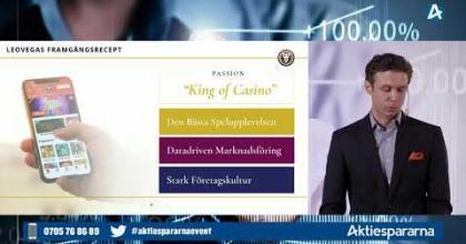 Embedded thumbnail for LeoVegas - Småbolagsdagen Stockholm den 10 juni 2020