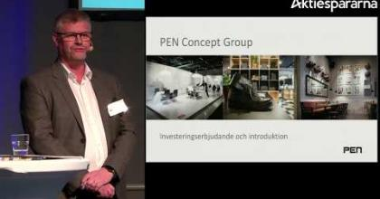 Embedded thumbnail for PEN Concept Group – Stora Aktiedagen Göteborg 2018