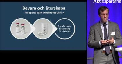 Embedded thumbnail for Diamyd Medical – Stora Aktiedagen Göteborg 2018
