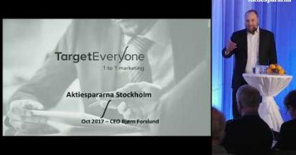 Embedded thumbnail for Aktiedagen Stockholm – Target EveryOne