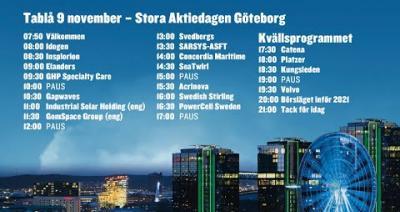 Embedded thumbnail for Följ Stora Aktiedagen Göteborg 9 november live