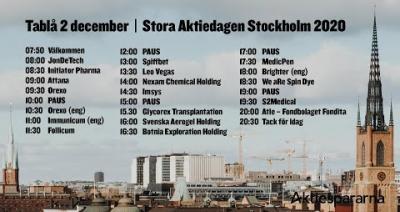 Embedded thumbnail for Följ Stora Aktiedagen Stockholm 2 december 2020 live