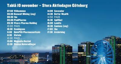 Embedded thumbnail for Följ Stora Aktiedagen Göteborg 10 november live