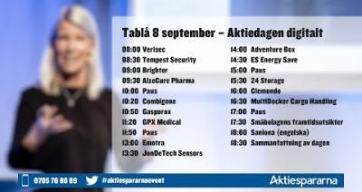 Embedded thumbnail for Följ Aktiedagen Digitalt 8 september 2020