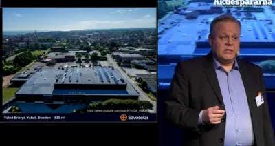 Embedded thumbnail for Stora Aktiedagen Göteborg – Savo Solar