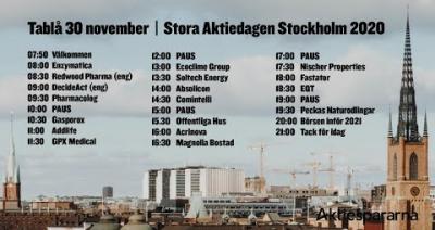 Embedded thumbnail for Följ Stora Aktiedagen Stockholm 2020 live