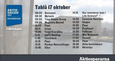 Embedded thumbnail for Följ Aktiedagen Stockholm 17 oktober live