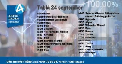 Embedded thumbnail for Följ Aktiedagen Göteborg 24 september live