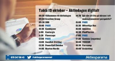 Embedded thumbnail for Följ Aktiedagen digitalt 19oktober live