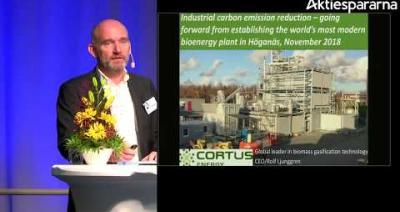 Embedded thumbnail for Cortus Energy – Stora Aktiedagen Göteborg 2018