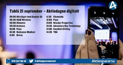 Embedded thumbnail for Följ Aktiedagen digitalt 21 september 2020