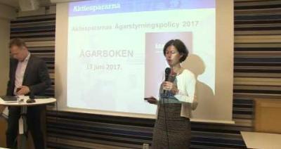 Embedded thumbnail for Pressträff om Aktiespararnas nya ägarbok