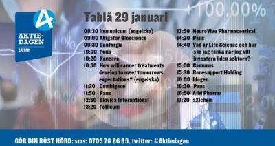 Embedded thumbnail for Följ Aktiedagen Lund 29 januari live