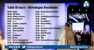 Embedded thumbnail for Följ Aktiedagen Stockholmlive 16 mars