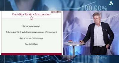 Embedded thumbnail for Aprendere Skolor – Aktiedagen Stockholm 7 september 2021