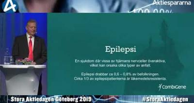Embedded thumbnail for CombiGene – Stora Aktiedagen Göteborg 4 november 2019