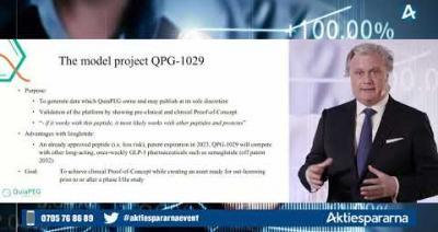 Embedded thumbnail for QuiaPEG Pharmaceuticals - Småbolagsdagen Stockholm den 8 juni 2020