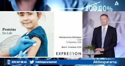 Embedded thumbnail for Expres2ion Biotech Holding - Aktiedagen digitalt 15 september 2020