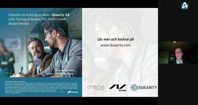 Embedded thumbnail for Duearity – Aktiekvällen Stockholm 14 april 2021