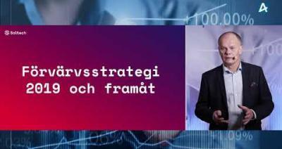 Embedded thumbnail for Soltech Energy - Stora Aktiedagen Stockholm digitalt 30 november 2020