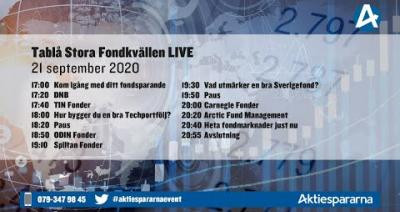 Embedded thumbnail for Stora Fondkvällen LIVE 21 september 2020