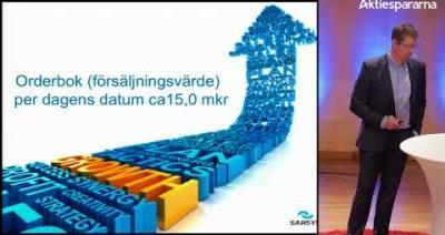 Embedded thumbnail for Aktiedagen Jönköping 13 mars – Sarsys