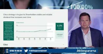 Embedded thumbnail for Cibus Nordic Real Estate - Aktiedagen Stockholm 4 maj 2020