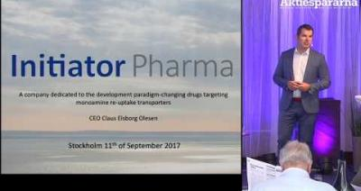Embedded thumbnail for Aktiedagen Stockholm – Initiator Pharma