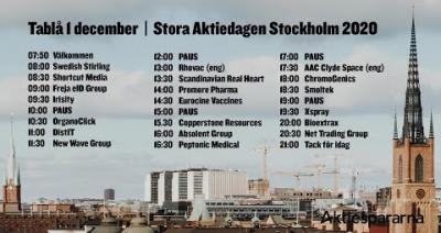Embedded thumbnail for Följ Stora Aktiedagen Stockholm 1 december 2020 live