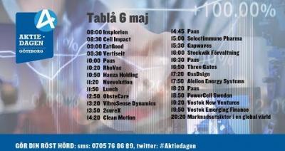 Embedded thumbnail for Följ Aktiedagen Göteborg 6 maj live