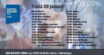 Embedded thumbnail for Följ Aktiedagen Lund live