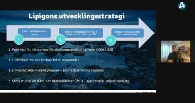 Embedded thumbnail for Lipigon Pharmaceuticals – Aktiedagen Lund 27 januari 2021