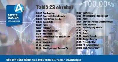 Embedded thumbnail for Följ Aktiedagen Stockholm 23 oktober live