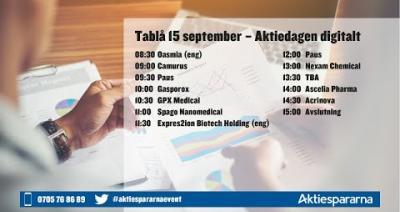 Embedded thumbnail for Följ Aktiedagen digitalt 15 september 2020